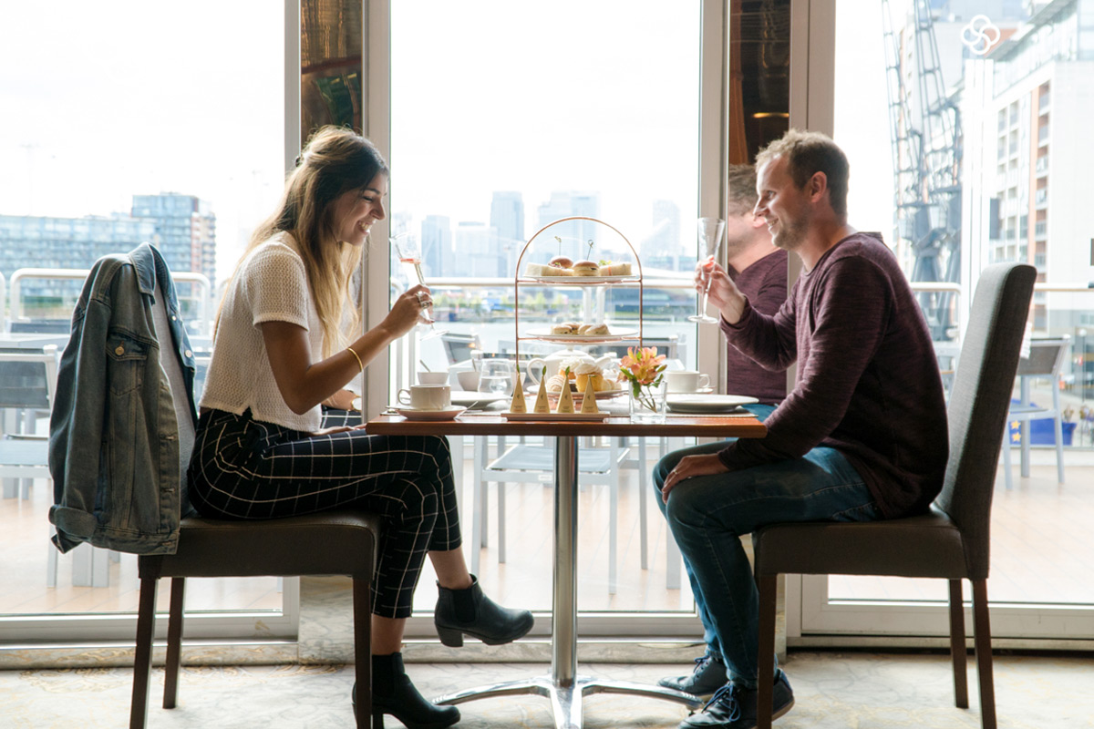 Afternoon Tea with a Signature Cocktail for Two aboard the Luxury Sunborn London Yacht Hotel
