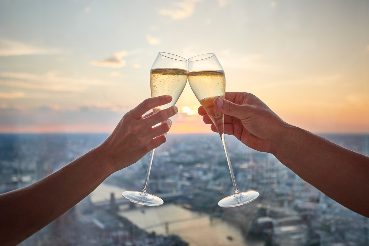 Champagne at The View from The Shard for Two