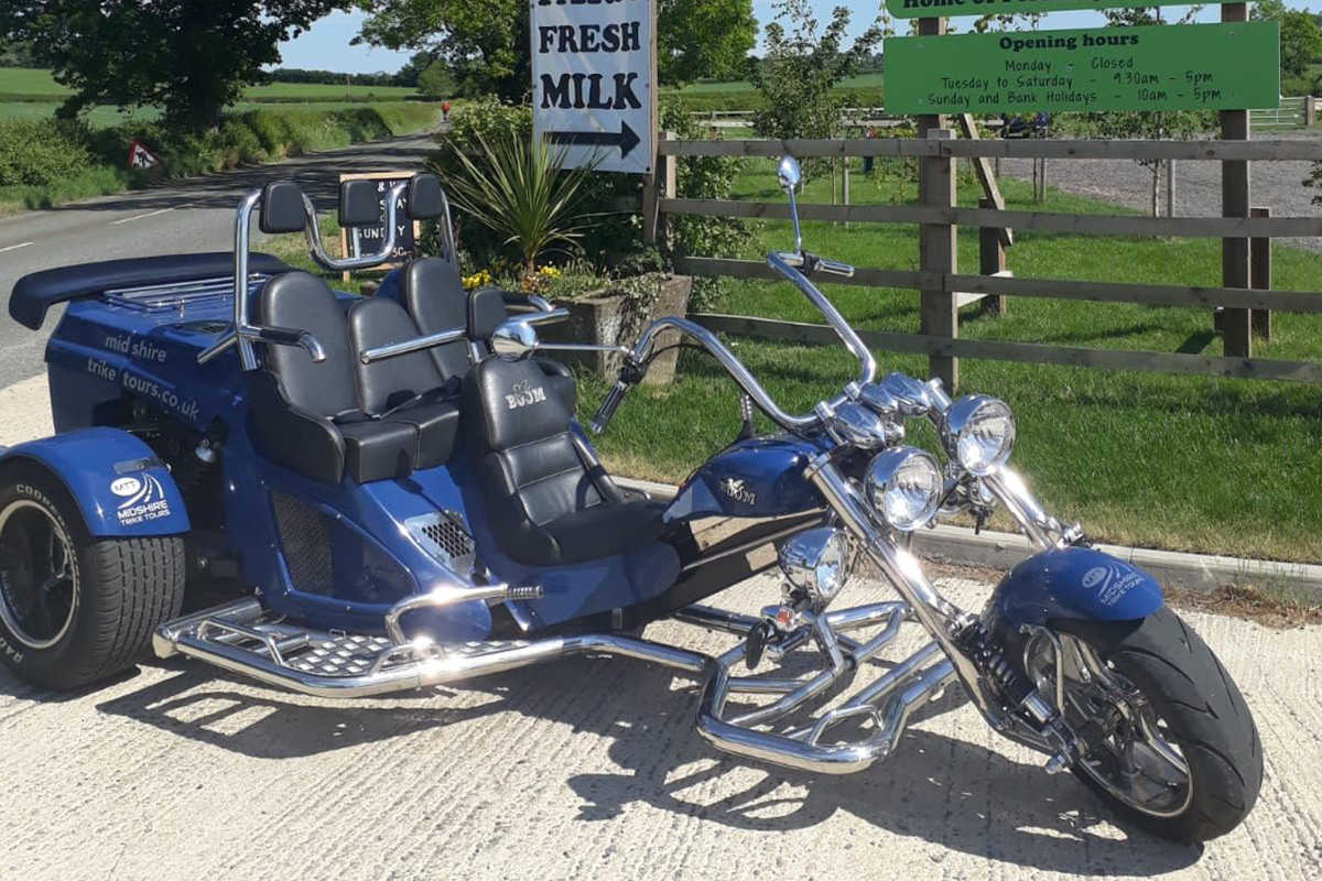 Chauffered Countryside Trike Tour and Lunch for Two