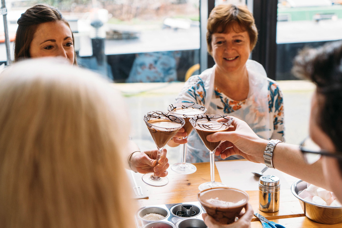 Cocktail and Chocolate Making for Two in London
