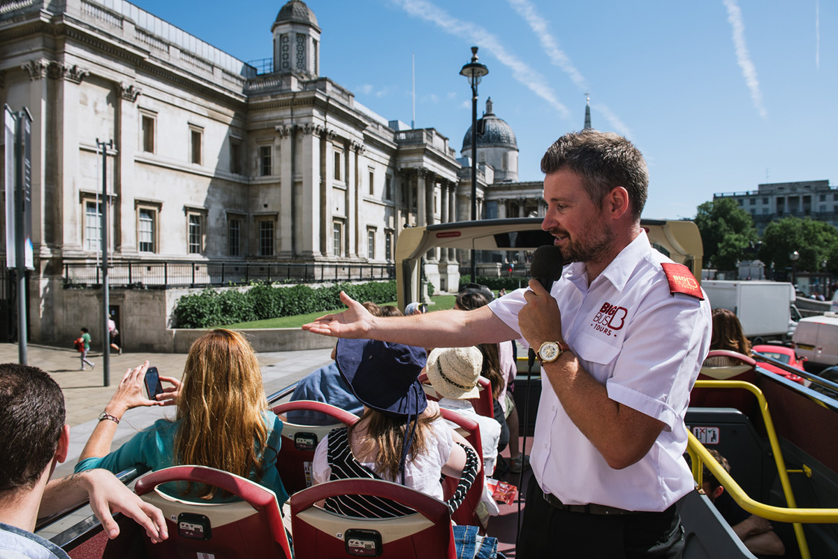 Explore London with Hop On Hop Off Sightseeing Bus Tour and River Cruise for a family of Four
