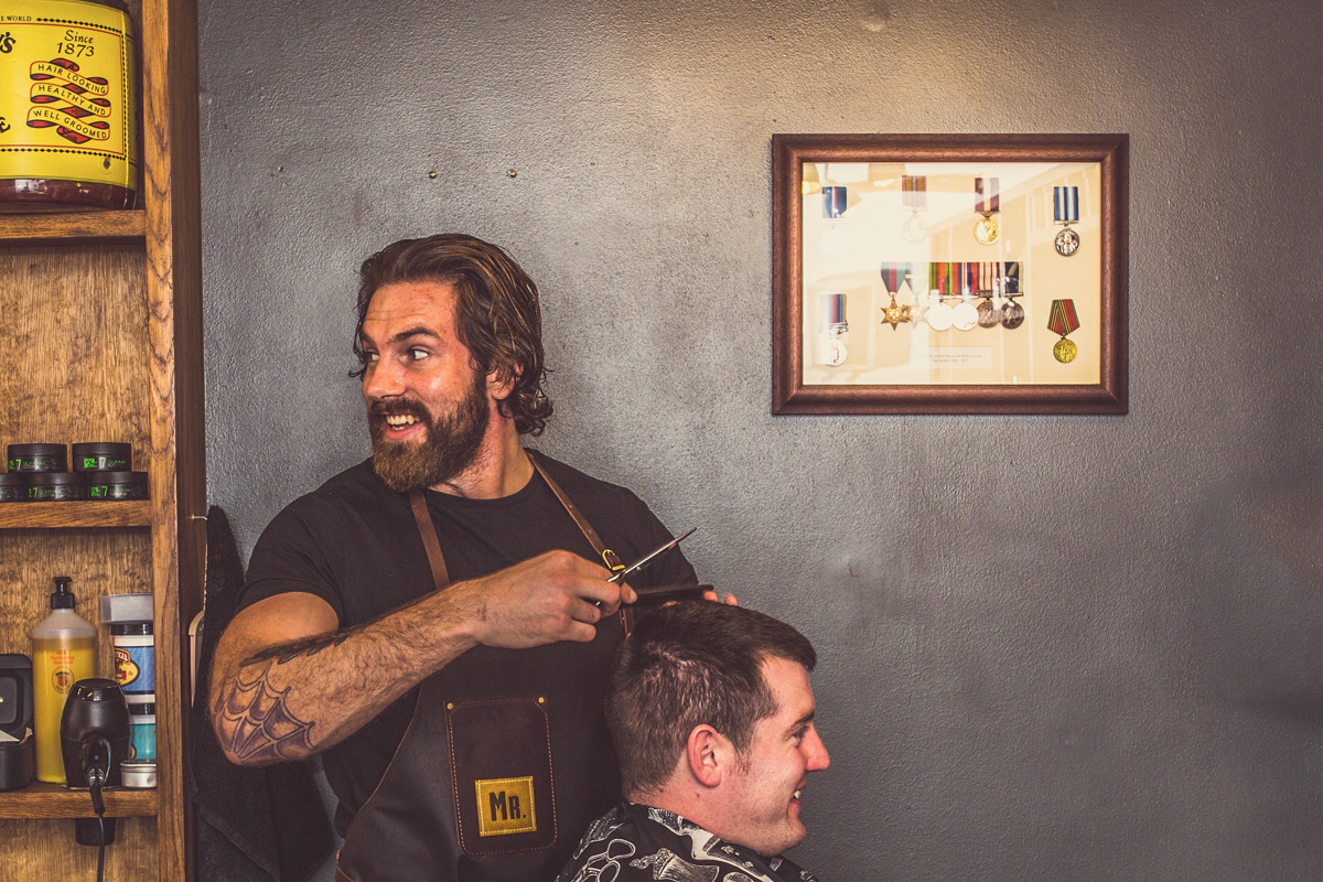Gentleman's Haircut and Professional Product at MR.Barbers