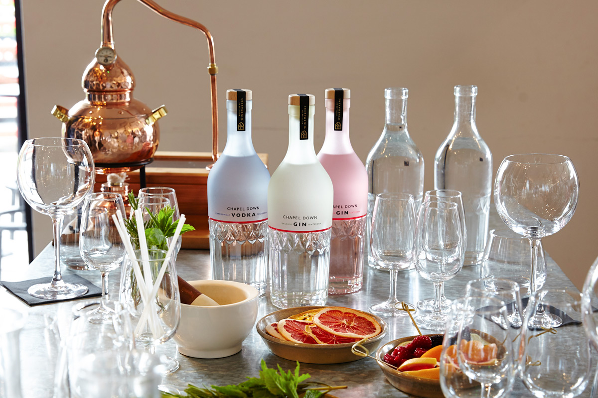 Gin Masterclass with Tutored Tasting and Sharing Platter for Two at the Chapel Down Gin Works