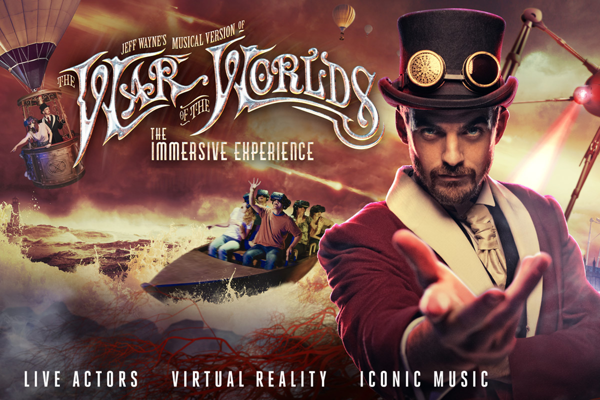Jeff Wayne's The War of The Worlds: The Immersive Experience with Meal and Cocktail for Two - Peak
