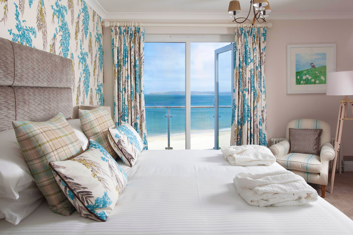 One Night Escape in a Luxury Junior Beach Suite for Two at the Carbis Bay Hotel & Estate, St Ives