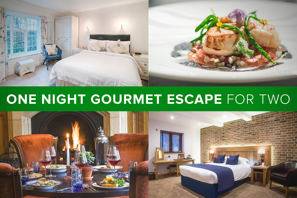 One Night Gourmet Hotel Escape for Two