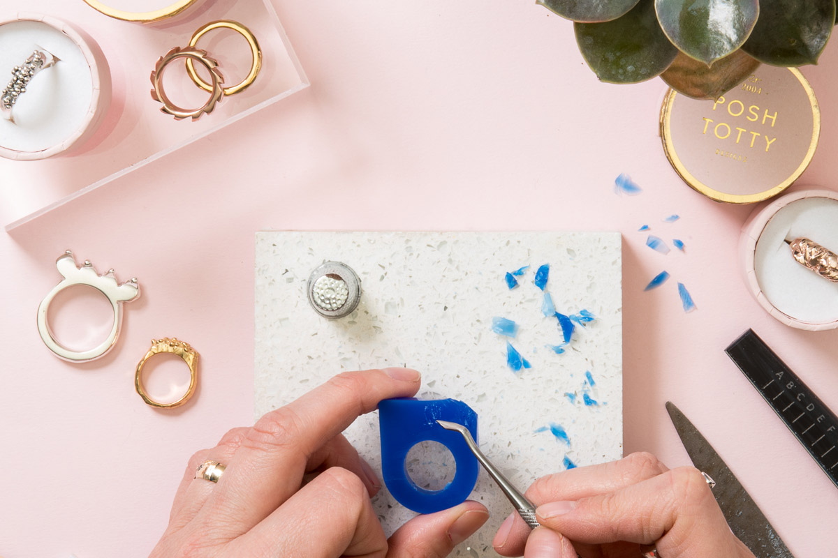 Personalised Ring Making Workshop with Cocktails for Two at Posh Totty Designs