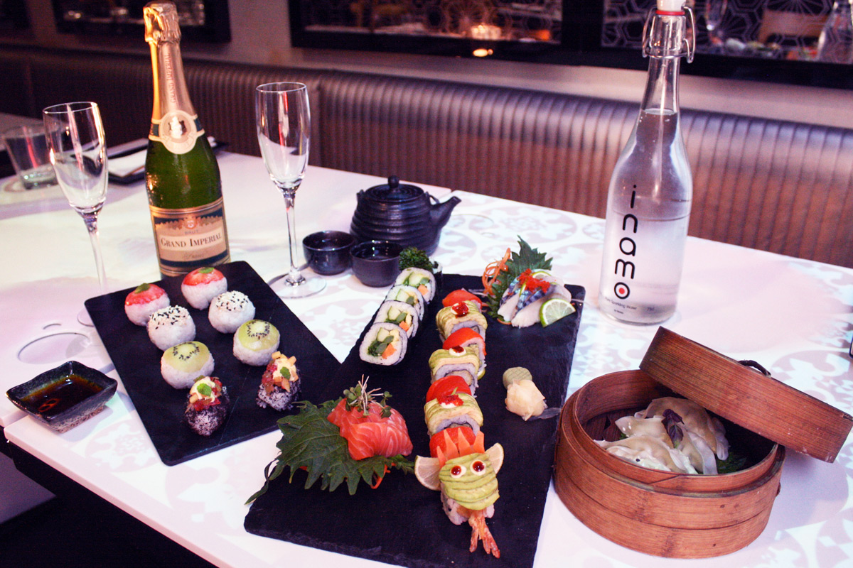 Sushi and Dim Sum Afternoon Tea with Fizz for Two at Inamo, London