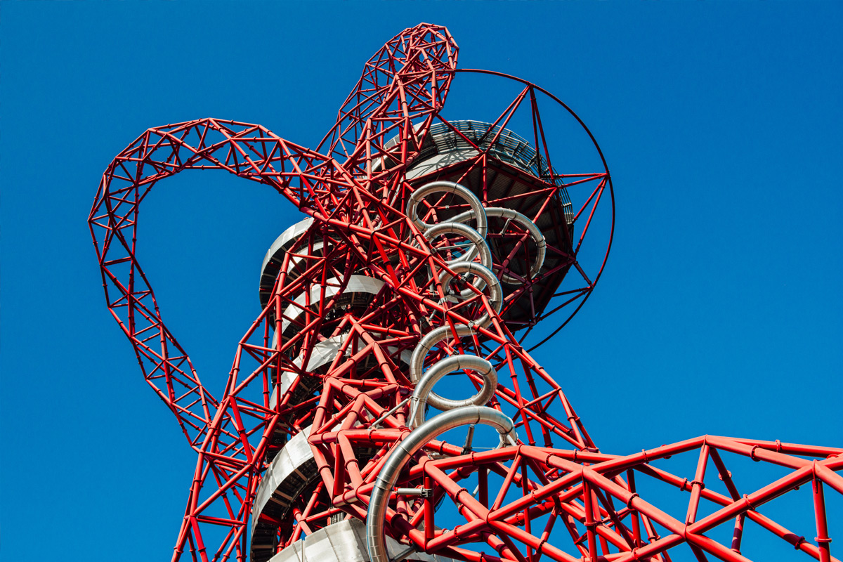 The Slide at The ArcelorMittal Orbit with Hot Drink and Cake for Two