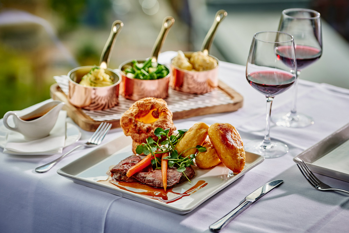 Three Course Sunday Lunch and Wine for Two at Mr White's English Chophouse, Manchester