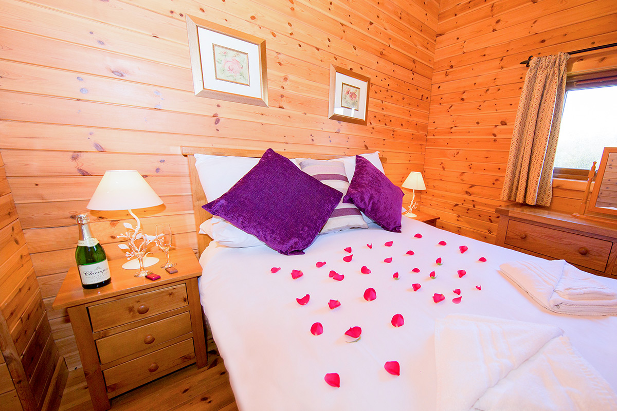 Three Night Somerset Log Cabin Escape for Four at Wall Eden Farm