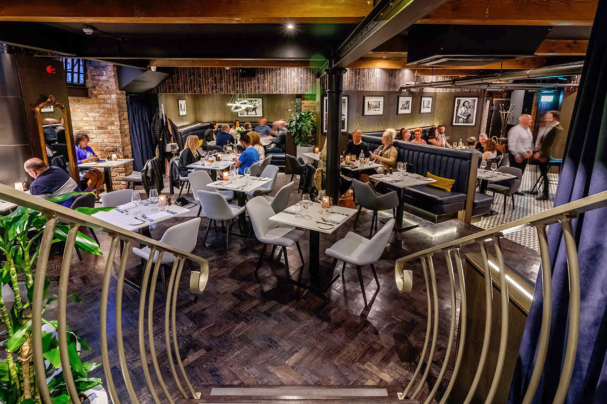 Two Course Early Dinner Menu and Wine for Two at Mr White's English Chophouse, Manchester