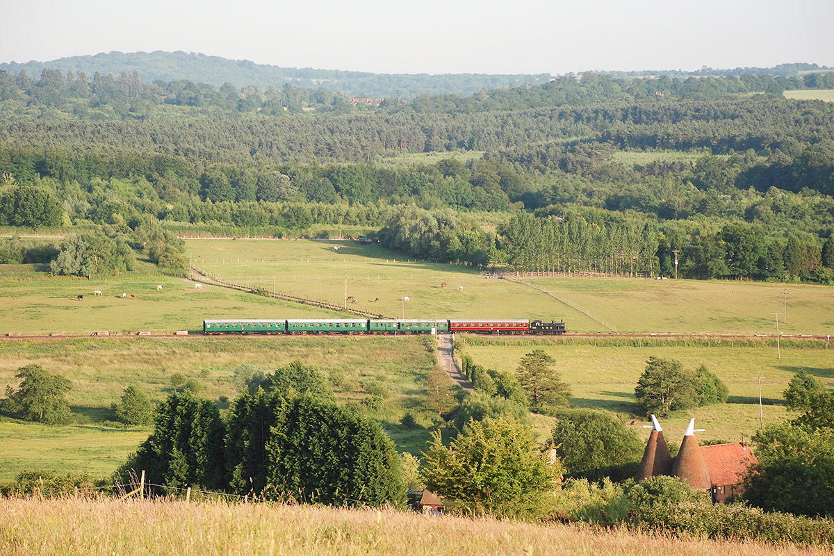 Vintage Steam Train Trip and Traditional Sunday Lunch with Wine for Two