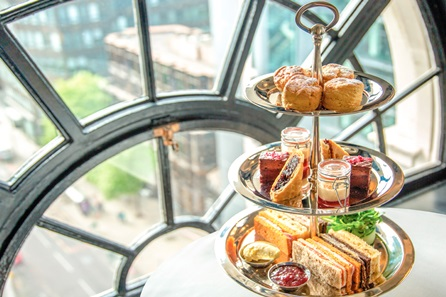 Champagne Afternoon Tea for Two at the Gotham Hotel, Manchester
