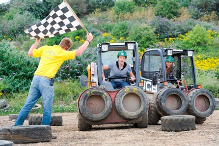 JCB Dumper Truck Racing for Two