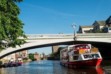 City of York Sightseeing River Cruise and Three Course Meal with Wine at Wildwood for Two