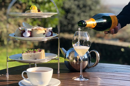 Devonshire Afternoon Tea with Champagne for Two at Buckland Tout-Saints Hotel