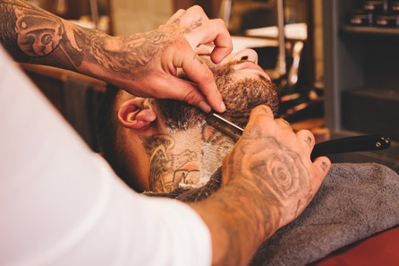 Gentlemen's Ultimate Grooming with Haircut, Traditional Wet Shave and Four Professional Products at MR.Barbers