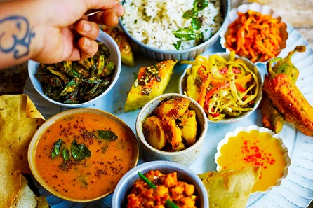 Homemade Indian Cookery Class with Three Course Meal