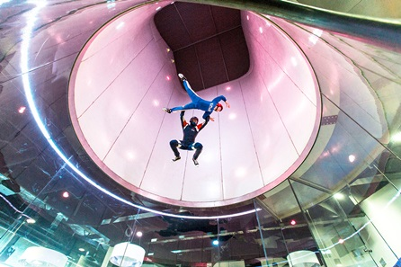 iFLY Indoor Skydiving and Two Course Meal with Wine at Brasserie Blanc for Two