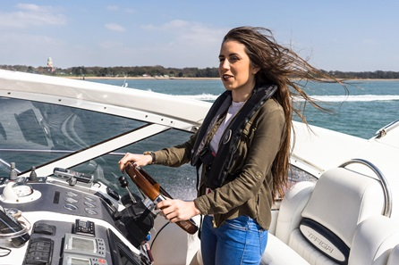Luxury Champagne Motor Cruiser Driving Experience for Two