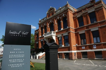 One Night Break with Steak Dinner and Prosecco for Two at Trafford Hall