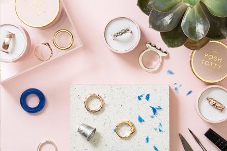 Personalised Ring Making workshop with Cocktails at Posh Totty Designs