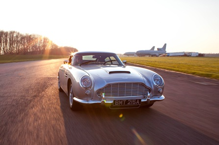 The Iconic Aston Martin DB5 Driving Blast