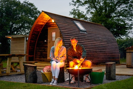 Two Night Glamping Break for Two at Secret Valley, Somerset