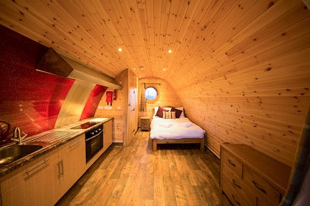Two Night Somerset Escape for Two in The Old Oak Glamping Pod at Wall Eden Farm