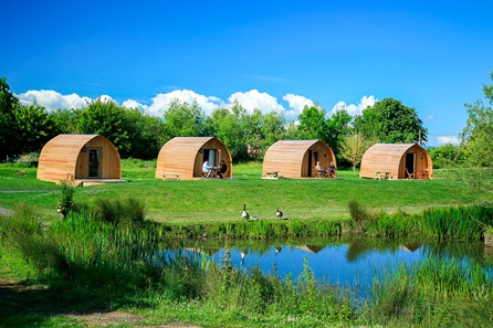 Two Night Somerset Escape in the Blackberry or Blueberry Glamping Pod at Wall Eden Farm