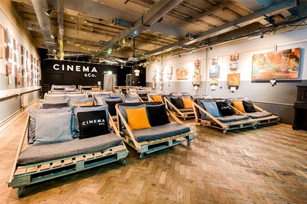 Unique Cinematic Experience with Popcorn, Pizza and Wine for Two