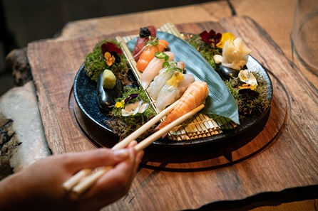 Valentines Day Japanese Three Course Dinner with Cocktail for Two at The 5* Luxury Prince Akatoki, London