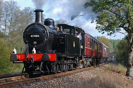 Vintage Steam Train Trip on The Spa Valley Railway with Dinner and Wine for Four
