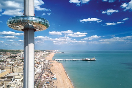 Visit to The British Airways i360 with Three Course Meal and Wine for Two