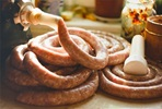 Sausage Making for Two at the Smart School of Cookery