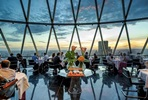 Six course tasting menu with a bottle of Champagne for two at London's Iconic Gherkin