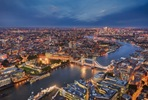 The View from The Shard and Two Course Dinner with Wine Flight for Two at London's Vivat Bacchus