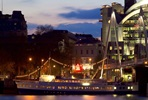 Three Course Meal with Prosecco on Board the RS Hispaniola and Thames Sightseeing Cruise for Two